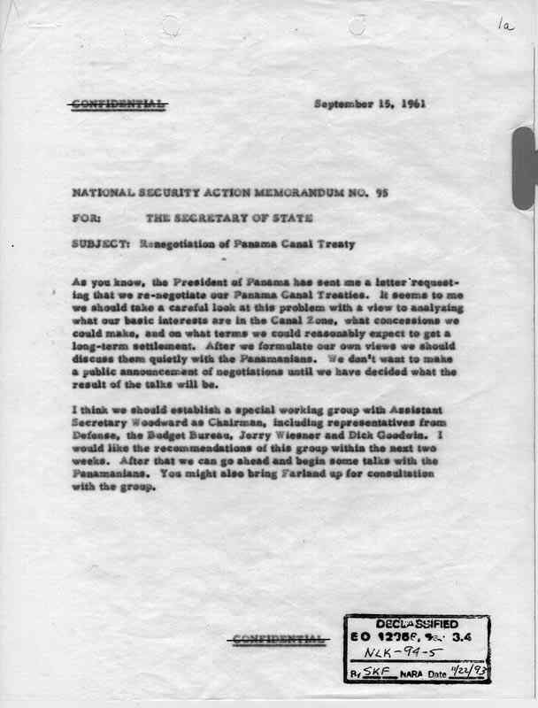 National Security Action Memorandums (NSAM) [Kennedy Administration ...